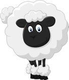 Glimlachend schapenbeeldverhaal Royalty-vrije Stock Afbeeldingen