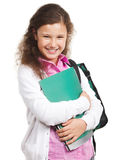 Schoolmeisje met rugzak Royalty-vrije Stock Afbeeldingen