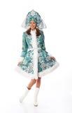 glimlachend sneeuwmeisje Royalty-vrije Stock Afbeeldingen