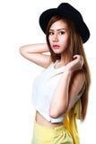 Glimlachend tiener Aziatisch meisje Royalty-vrije Stock Afbeelding