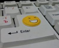 Glimlachend toetsenbord Stock Fotografie