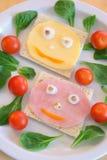 Glimlachend voedsel Royalty-vrije Stock Foto