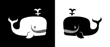 Glimlachend walvissilhouet Stock Afbeelding