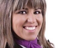 Glimlachende aantrekkelijke vrouw royalty-vrije stock afbeeldingen