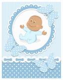 Glimlachende Afrikaanse babyjongen royalty-vrije illustratie