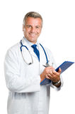 Glimlachende arts op het werk Royalty-vrije Stock Foto's
