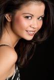 Glimlachende Aziatische Vrouw Royalty-vrije Stock Foto's