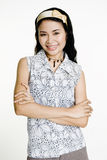 Glimlachende Aziatische Vrouw Royalty-vrije Stock Afbeeldingen