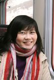Glimlachende Aziatische Vrouw Stock Fotografie