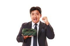 Glimlachende Aziatische zakenman stock afbeelding