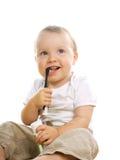 Glimlachende baby royalty-vrije stock foto's