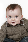 Glimlachende babyjongen royalty-vrije stock fotografie