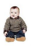 Glimlachende babyjongen stock fotografie