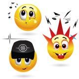 Glimlachende ballen vector illustratie