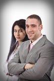Glimlachende bedrijfsmensen Stock Foto's