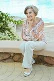 Glimlachende bejaarde Stock Fotografie