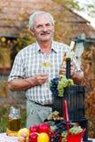 Glimlachende bejaarde royalty-vrije stock foto's