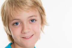 Glimlachende blonde jongen Stock Fotografie
