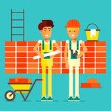 Glimlachende bouwers royalty-vrije illustratie