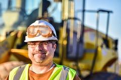 Glimlachende bouwvakker Stock Fotografie