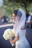 Glimlachende Bruid stock fotografie
