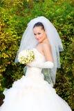 Glimlachende bruid Royalty-vrije Stock Foto