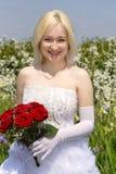 Glimlachende bruid Stock Afbeeldingen