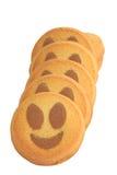 Glimlachende cakes Royalty-vrije Stock Foto's