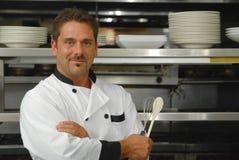 Glimlachende chef-kok Stock Afbeeldingen