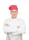 Glimlachende Chef-kok Stock Foto