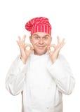 Glimlachende Chef-kok Royalty-vrije Stock Afbeeldingen