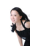 Glimlachende Chinese vrouw - close-upportret Royalty-vrije Stock Fotografie