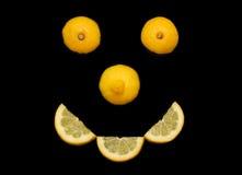 Glimlachende citroen Royalty-vrije Stock Foto
