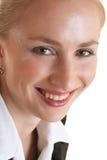 Glimlachende Dame stock afbeeldingen