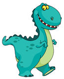 Glimlachende dinosaurus Stock Foto's