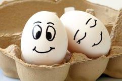 Glimlachende eieren Stock Afbeeldingen
