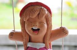 Glimlachende gebakken kleipop Royalty-vrije Stock Foto