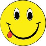 Glimlachende gele bal Stock Afbeelding