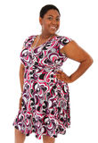 Glimlachende Gelukkige Jonge Afrikaanse Amerikaanse Vrouw Stock Foto
