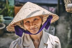 Glimlachende grootmoeder royalty-vrije stock foto