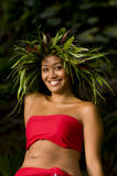 Glimlachende Hawaiiaanse vrouw royalty-vrije stock foto