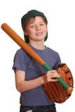 Glimlachende honkbalspeler Stock Afbeelding
