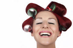 Glimlachende huisvrouw 2 Royalty-vrije Stock Afbeelding