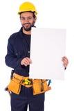 Glimlachende jonge arbeider Stock Fotografie
