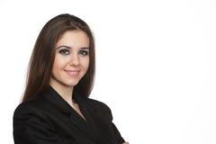 Glimlachende jonge bedrijfsvrouw Royalty-vrije Stock Fotografie