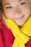 Glimlachende jonge dame Royalty-vrije Stock Fotografie