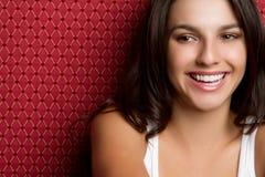 Glimlachende Jonge Tiener Stock Foto