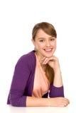 Glimlachende Jonge Vrouw Stock Afbeelding