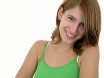 Glimlachende jonge vrouw royalty-vrije stock fotografie