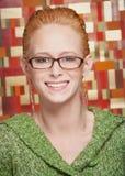 Glimlachende jonge vrouw Royalty-vrije Stock Foto's
